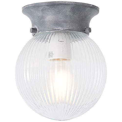 Brilliant Baret plafondlamp 15 cm grijs beton industriële look, 1 x E27 geschikt voor normale lampen tot maximaal 25 W.