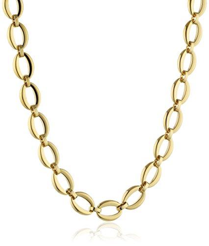 Esprit Damen Kette Edelstahl Ohne pure links gold 42 cm ESNL13101B420