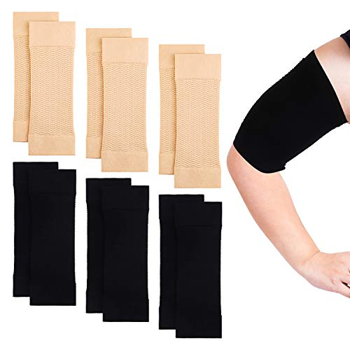 Cooraby 6 Pair Arm Shapers for Women Arm Shaper Wrap, Large Size Arm Compression...