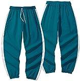 FLYCHEN Squid Game Ropa Hombre Sudadera con Bolsillo Juego de Calamar Traje de suéter con Cremallera Pantalones, Pantalones Azul, 2XL