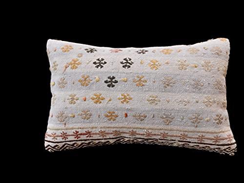 Kelim 3335 - Cojín (30 x 50 cm, funda de almohada decorativa Kelim, 30 x 50 cm), diseño de Kilim Lumbar