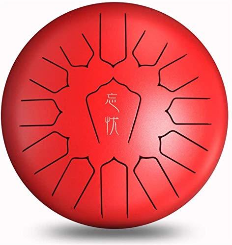 Tamburo in Acciaio, Tambor de la lengüeta de acero Tambor de la mano de 12 pulgadas Tambor de percusión 13 Sintonizar el instrumento de tambor etéreo con bolsa de mano, 2 palillos, libro tutorial, sel