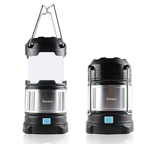 Homealexa Handheld LED Camping Lantern Rechargeable LED Torch Camping Torch CREE Camping Lamp with 4400mah, dimmable Flashlight with Warning Light,Waterproof LED Spotlight Searchlight (Black)