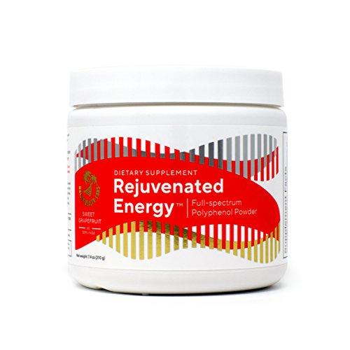 Rejuvenated Energy - full spectrum Polyphenol powder with Probiotics, Sinetrol, Green Tea, and Antioxidants 60 servings