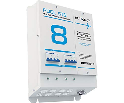 AutoPilot Fuel ST8 Light Controller, 8 Outlet, 240V, with Single Trigger