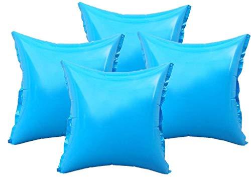 well2wellness® 4 x Pool Luftkissen, Poolkissen und Winterkissen für Abdeckplanen mit neuem Ventil und 4 Ösen
