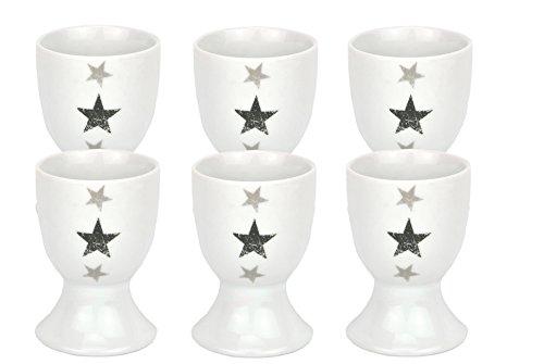 Van Well 6er Set Eierbecher Stars 4,6cm