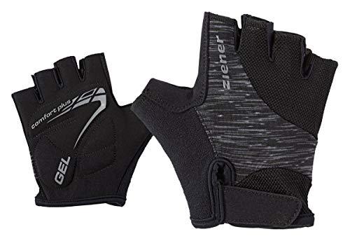 Ziener Kinder CANIZO Fahrrad-, Mountainbike-, Radsport-Handschuhe   Kurzfinger - atmungsaktiv/dämpfend, black melange, M