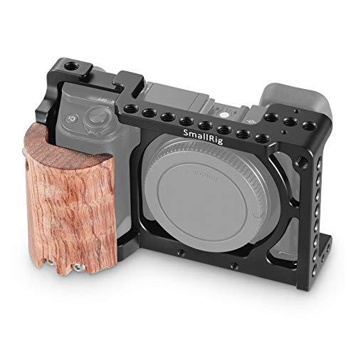 SMALLRIG A6300 Cage Käfig mit Wooden Handgrip für Sony A6300 / A6000-2082