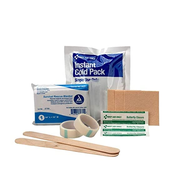 First aid only all-purpose medical first aid kit, 320 pieces emergency kit of first aid supplies 9 contains 299 essential first aid supplies for treating minor aches and injuries clear plastic liner in nylon case for organization and easy access to first aid supplies in an emergency soft sided, zippered case ideal for home, travel and on the go use