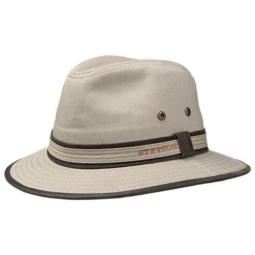 Stetson AVA Cotton UV-Schutz Stoffhut - Sonnenhut Herren/Damen - Hut aus Baumwolle - Traveller Frühjahr/Sommer - Sommerhut beige L (58-59 cm)