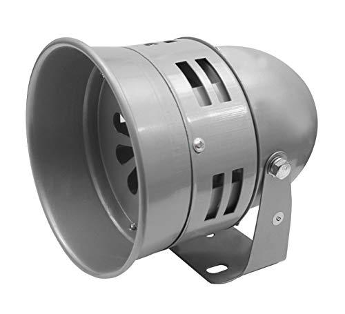 Motorsirene in 3 Spannungen 12V, 24V & 230V und 2 Gehäuse Stahl oder Kunststoff auswählbar (Stahl, 12V DC)