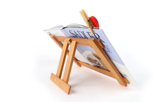 Legnomagia - made in Italy: INSULA leggio pieghevole con clip fermapagina cuore