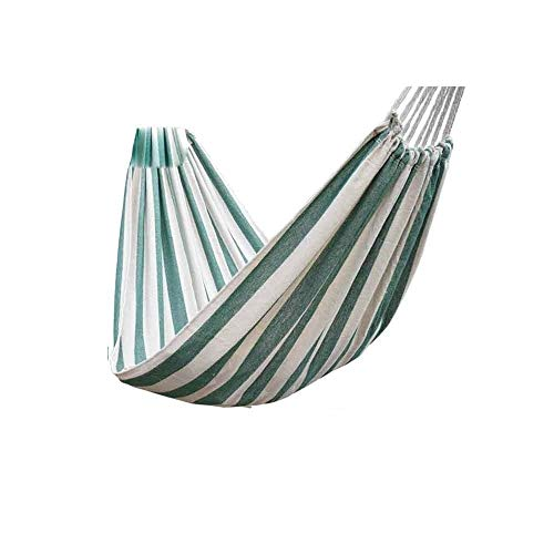 ZHANGXIAOYU Outdoor hammock swing single or double adult sleep rollover thick canvas home (Color : Green, Size : Small)