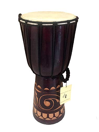 Djembe Drum African Bongo Drum Hand Drum LARGE SIZE 16' High - Jive® Brand - PROFESSIONAL SOUND/QUALITY - Carved