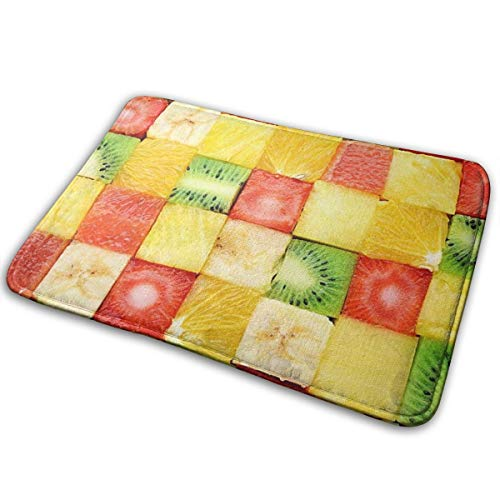 Anti Slip Bath Mat Rug (15.7 X 23.5 Inch) Extra Soft And Absorbent Rugs, Shower Room Bedroom And Kitchen Carpet,Funky Fruit Diet Healthy