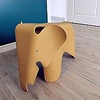 Paddia Creativo Protección del Medio Ambiente Precioso para niños Elefante Plástico Taburete bajo Diseño contemporáneo Muebles para niños Silla de Juguete (Color : Yellow)