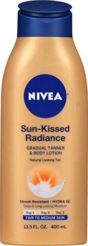 NIVEA Sun-Kissed Radiance Fair to Medium Skin Gradual Tanner & Body Lotion 13.5 Fluid Ounce