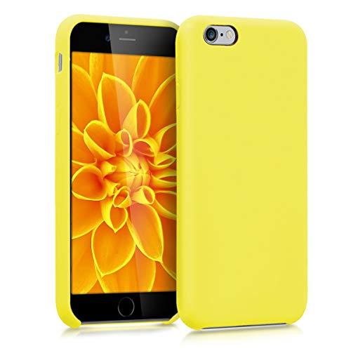 kwmobile Coque Compatible avec Apple iPhone 6 / 6S - Housse de téléphone Protection Souple en TPU Silicone - Jaune Fluo