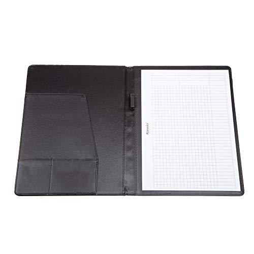 Alassio 30181 – schrijfmap A4 Balacco van polyester, conferentiemap in zwart, organisatiemap ca. 31,5 x 25 x 2 cm, met A4 blok, visitekaartjesvak en 1 pennenlus.