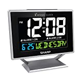 Best Alarm Clocks - Sharp Atomic Desktop Clock with Color Display Review
