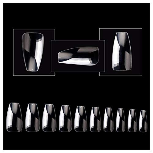 VIVID STELLA Sarg Nägel 500 Stück Ballerina Falsche Nägel Mittel Künstliche Nagelspitzen