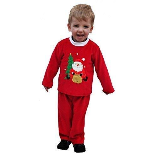 Lively Moments Mignon Weihnachtsanzug Pyjama Tenue de Maison pour Enfants avec Père Noël Assis Avant Le Sapin de Noël Application 24 - 30 Mois dans Showkarton