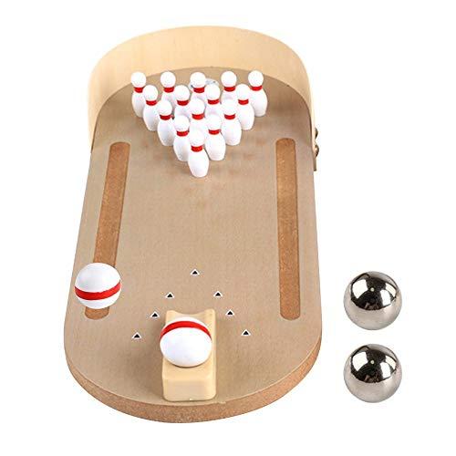 DONGKER Mini juego de bolos, mini juegos de bolos de escritorio juguetes de bolos interiores para niños y adultos deportes