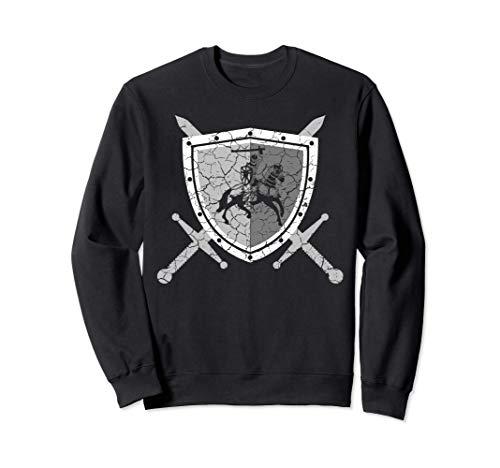 Ritterrüstung mit Löwen am Brustpanzer Mittelalter Ritter Sweatshirt