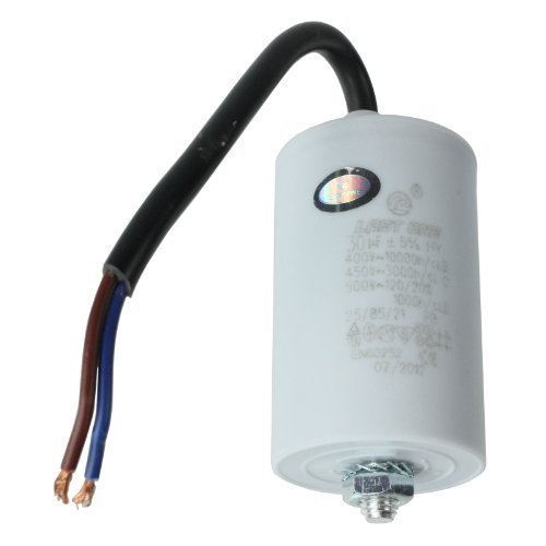 First4Spares - Condensator motor Microfarad Universal met aansluiting stuurwielkabel MFD 30 UF (400 V, 450 V, 500 V)