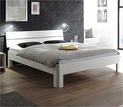 HASENA Fine Line Bett Syma 18 Füße Ronda Buche weiß deckend 140x200