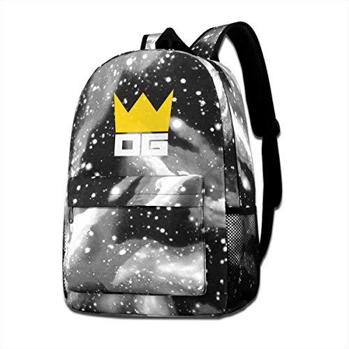 Lawenp Galaxy Backpack Otaku Gang Kid's Fashion Mochilas Bolsa para Viajes Escolares Negocios Compras Trabajo