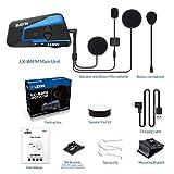 LEXIN LX-B4FM 4 Riders Motorcycle Intercom, Universal Helmet Communication System, Waterproof Bluetooth Headset with Speakers for Motorcycle Helmet 1600m Range