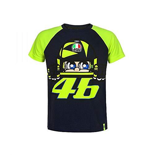 Valentino Rossi VRKTS353002005, T-Shirt Cupolino Bambino Unisex, Blu, 6/7 anni