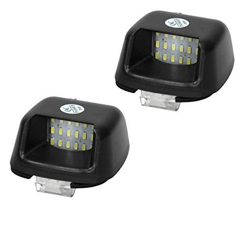 bester Test von citroen xsara picasso adac ECD, Deutschland, 2 E-zertifizierte LED-Kennzeichenleuchten – 6000K Xenonweiß – Canbus – Stecker &…