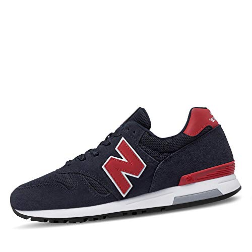 New Balance Herren 565 Sneaker, Blau (Navy/Red), 44 EU