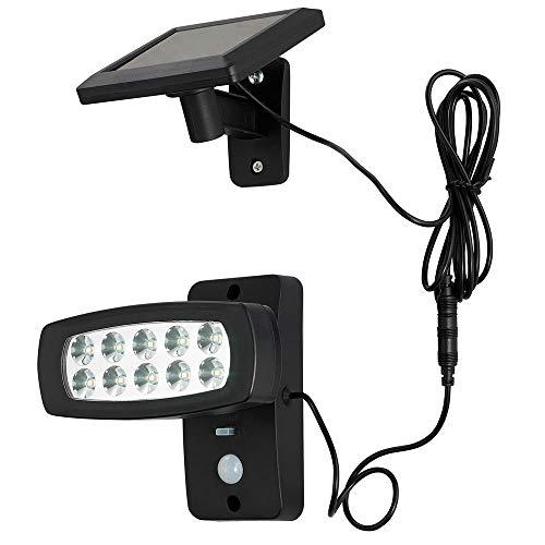 Müller-Licht LED Solar-Gartenleuchte Schwarz IP44 1,6W 150lm Tageslichtweiß 6500K mit Sensor