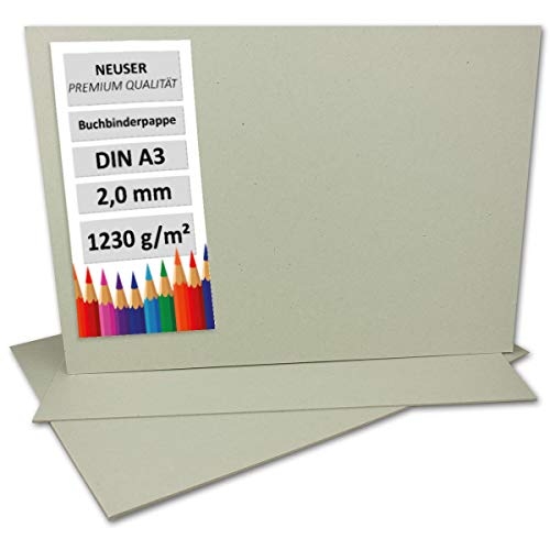 Libro Binder cartón DIN A3, grosor de 2mm, gramaje: 1230g/m² | Formato: 42,0x 29,7cm