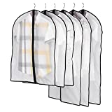 Yinghesheng Transparente Bolsa de Ropa Protectores de Ropa 6 Pcs Garment Funda para Guardar Fundas para Ropa a Prueba de Polvo,Bolsas de Ropa Plegables y Lavables para Trajes, Abrigos, Vestidos