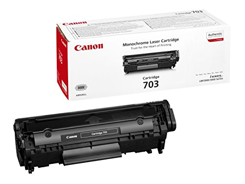 Canon cartucho 703 de tóner original negro para impresoras láser i-SENSYS LBP2900, LBP2900B, LBP3000