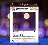 setecientosgramos Photocall Instagram Año Nuevo Personalizado| 80x110 | Cenas Nochevieja | PhotoBooth Instagram (Cartón 4mm)