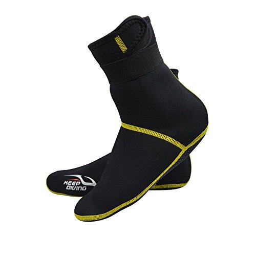 Micnaron Water Shoes Premium Men/Women Hi Top Neoprene Boots 3mm Anti-Slip Diving Boot/Dive Boot/Snorkeling Socks Diver/Scuba Diving Shoes/Snorkel Boots/Water Socks Booties