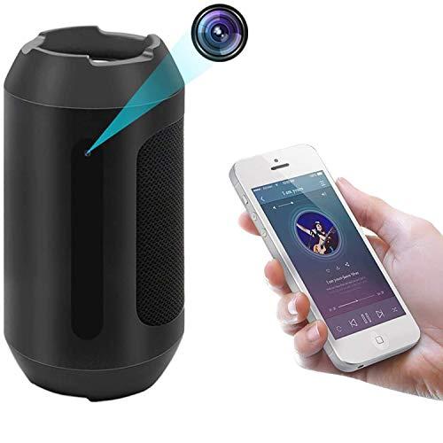 Bluetooth-Lautsprecher Überwachungskameras, 1080P Kamera Bewegungserkennung Sicherheit Videorecorder Mini Kinder MEHRWEGmädchen Kamera mit Nachtsicht