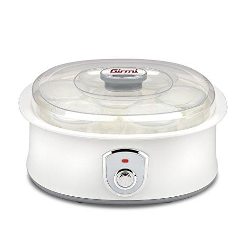 Girmi YG0300 Yogurtiera, 20 W, Plastic, Bianco