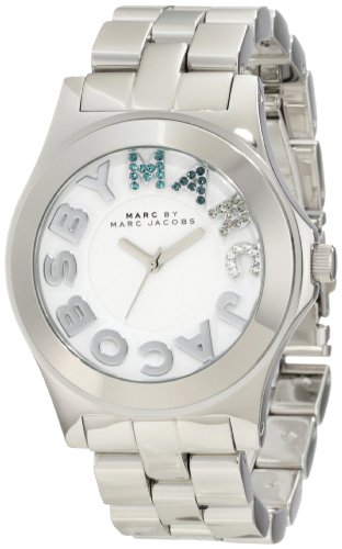 Marc by Marc Jacobs Rivera White Dial Stainless Steel Unisex Watch MBM3136: Watches