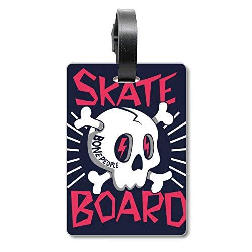 Skate Board Indian Skelett Sacrifice Totem Cruise Koffer Bag Tag Tourister Identification Label