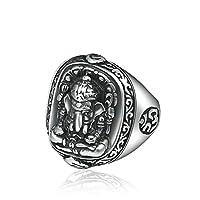 Se ti piace la musica rock, ti potrebbe piacere questo anello e puoi anche regalarlo come regalo ai tuoi amici punk in stile rock and roll. Naturalmente, anche le motociclette e questo anello sono molto collocati. Realizzato in materiale in argento s...