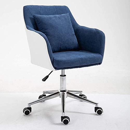Convierta la habitación cómoda de la silla de la silla de la silla de taburete de la oficina cubierta de la silla moderna Medio espalda (Color : A)