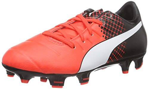Puma EvoPower 3.3 Tricks FG Jr, Unisex-Kinder Fußballschuhe, Rot (Red Blast-puma White-puma Black 03), 38 EU (5 Kinder UK)