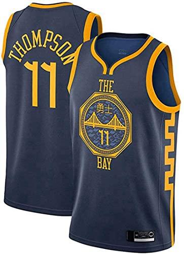 Thompson - Camiseta de baloncesto para hombre, diseño de uniforme de baloncesto para adultos, sin mangas, color azul marino